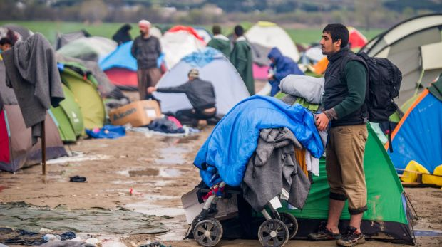 The camp in the Greek village of Idomeni on the Greek side of the border between Greece and Macedonia on Thursday.