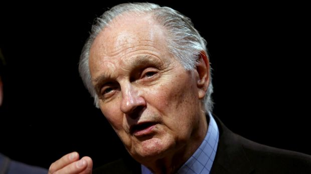 Alan Alda discussed his Dear Albert theatrical work on Friday.