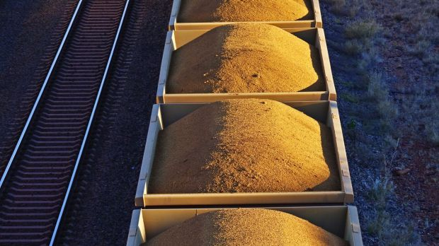 Iron ore prices have climbed 66 per cent in the past three months.