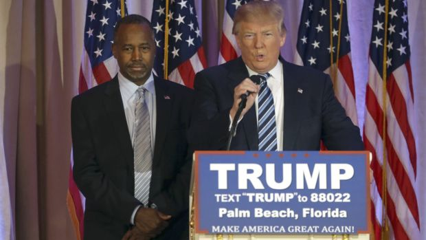 Former Republican presidential candidate Ben Carson has endorsed Donald Trump.