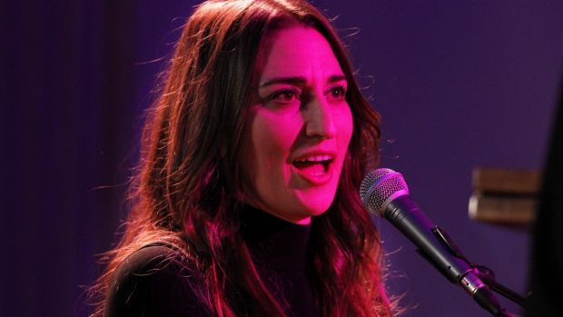 Singer Sara Bareilles performs 'Brave' in the State Dining Room of the White House on Thursday.