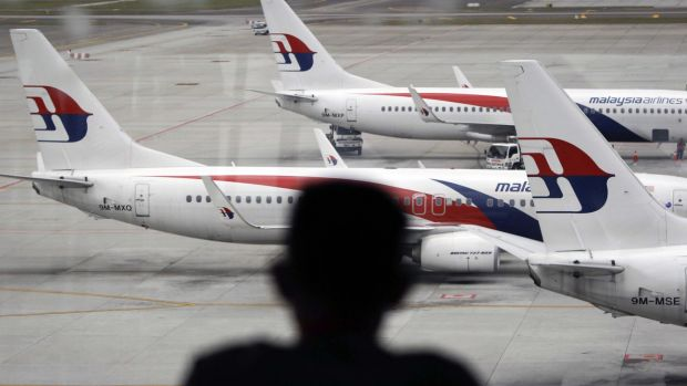 Malaysia Airlines planes on the tarmac at Kuala Lumpur International Airport, where the ill-fated MH370 flight took off.