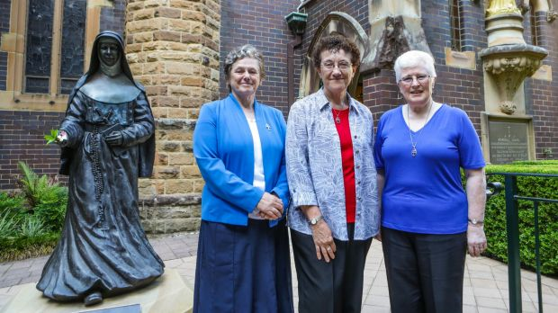 Sisters Louise Reeves, Marion Gambin and Catherine Shelton from the Sisters of St Joseph.