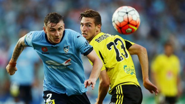 Nightmare: Sebastian Ryall and his Sydney FC teammates disappointed once again.