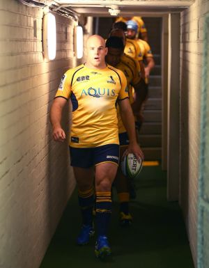 Brumbies co-captain Stephen Moore is leading the Super Rugby title favourites.