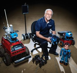 Ron Arkin discussed the use of robots at The Moral Math of Robots panel.