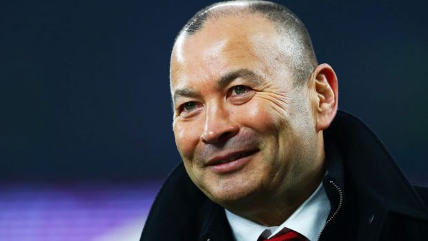 Winner's grin: Eddie Jones after England's triumph over Wales.