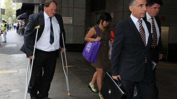 Former council chief financial officer Gary Goodman arriving at the inquiry into the City of Botany Bay.