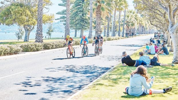 Some cyclists were allegedly stopped in their tracks by nails on the course.