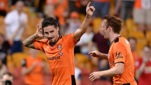 Mac the knife: Jamie Maclaren's run of form has coincided with the Roar's emergence as serious title fancies.