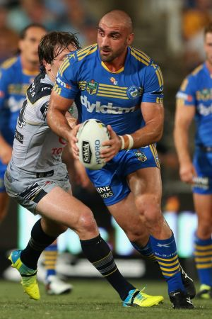 Respect: Eels forward Tim Mannah admires the way Will Hopoate handled his situation.