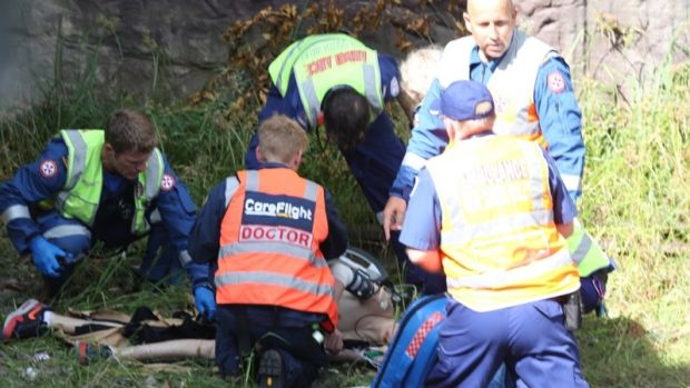 Emergency services treated the boy at the scene.