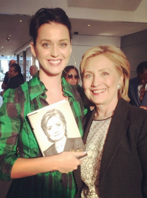 Hillary Clinton counts Katy Perry among her supporters.