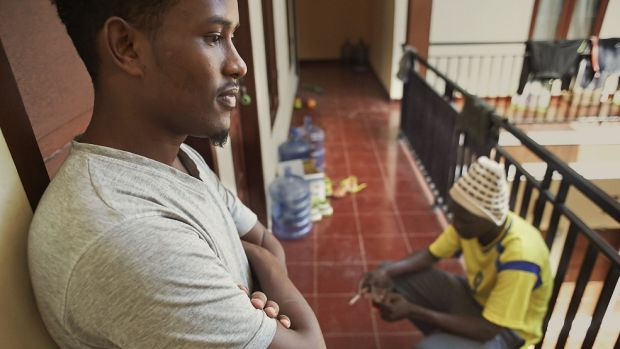Unable to work, Somali migrants in Indonesia pass their days waiting for UNHCR processing and resettlement at an ...