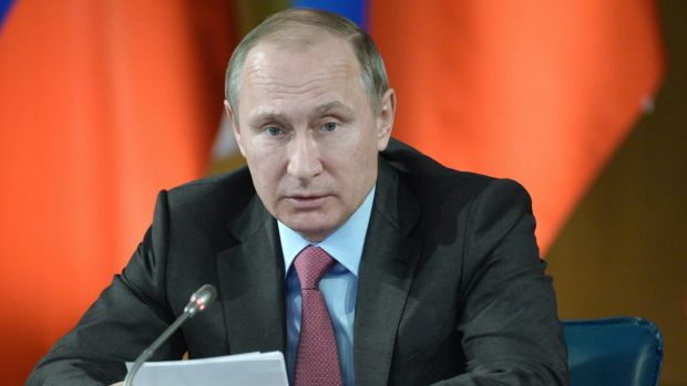 A surprise announcement: Russian President Vladimir Putin this week.