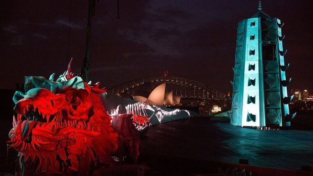 Handa Opera's set for <i>Turandot</i> features a giant 9-metre high and 60-metre long dragon incorporating the Great ...