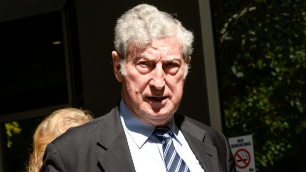 Prominent Melbourne Lawyer Alex Lewenberg leaving VCAT after a hearing on allegations of professional misconduct.