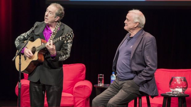 John Cleese and Eric Idle performing in Florida.