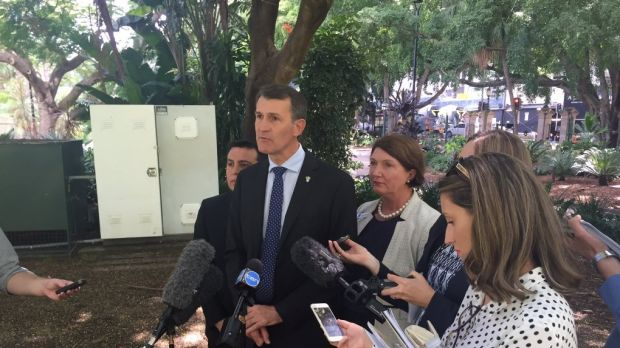 Lord Mayor Graham Quirk fronts the media in argubaly the toughest day of his re-election campaign so far.