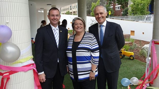 Member for Coogee Bruce Notley Smith, left, with Mayor of Waverley, Cr Sally Betts and Member for Wentworth, the Hon ...