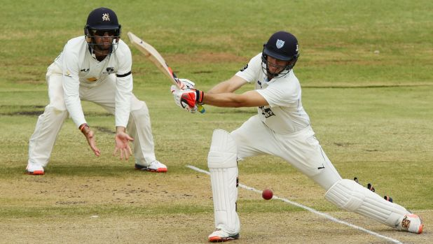 Half way there: Kurtis Patterson scored 82 on day one for NSW.