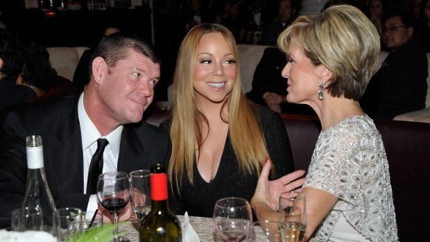 James Packer, Mariah Carey and Foreign Minister Julie Bishop  attend the G'Day USA 2016 Black Tie Gala.