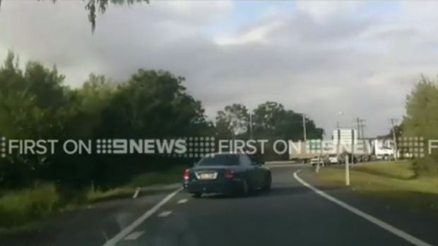 A dash cam captures a road rage incident in Ipswich.