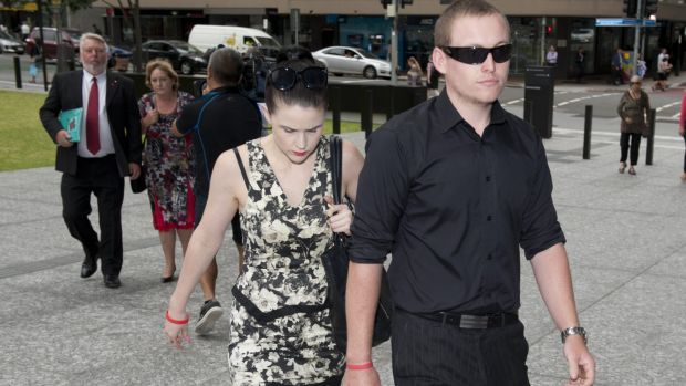 Daniel Morcombe's twin brother Bradley arrives at court with Anna by his side during the trial of Daniel's killer.