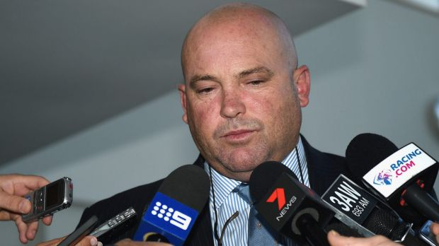 Peter Moody speaks to the media