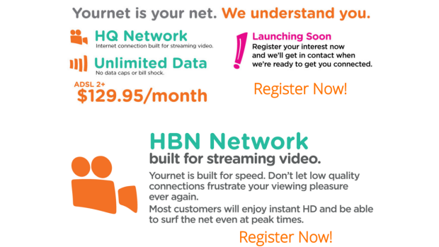 Yournet's website remains live despite the service being on hold indefinitely.