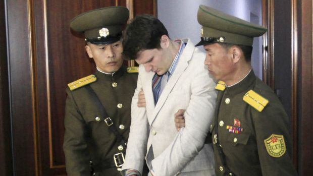 American student Otto Warmbier, 21, was sentenced to 15 years hard labour.