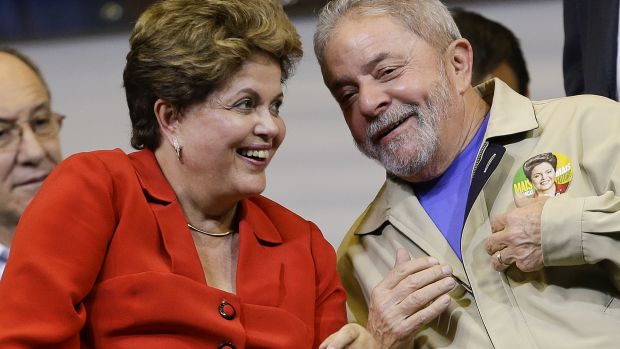 Pressure is mounting for the impeachment of Brazilian President Dilma Rousseff, seen here with former president Luiz ...