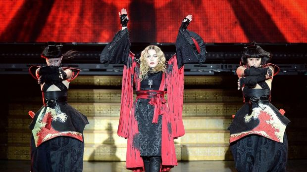 Madonna in Brisbane as part of her Rebel Heart Tour.