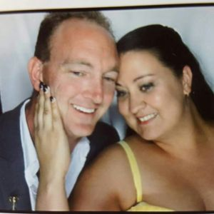 Mark Slocombe and his wife Mandy.