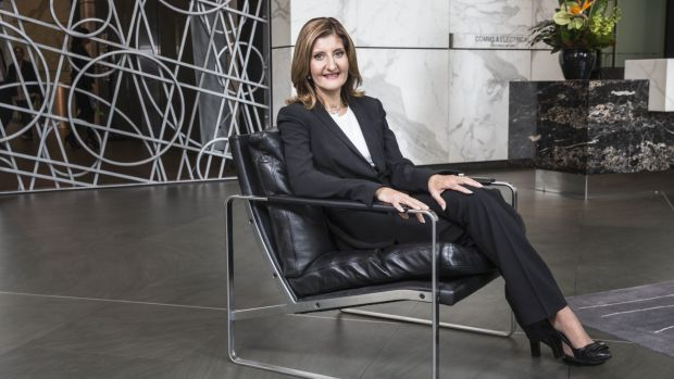 NAB group executive Angela Mentis is in the hot seat, trying to improve its flagship business bank.