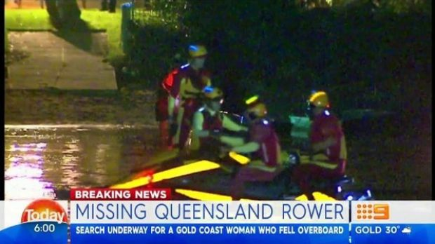 Rescue crews have been searching all night for a woman believed to have gone missing from a dragon boat.