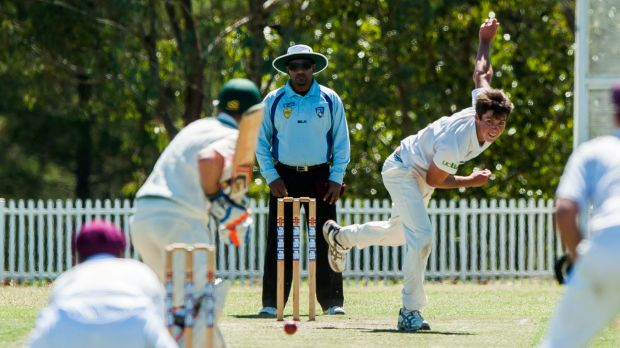 Wests/UC bowler Sam Skelly took 3-52 on the first day of the Douglas Cup final against Weston Creek Molonglo on Saturday.
