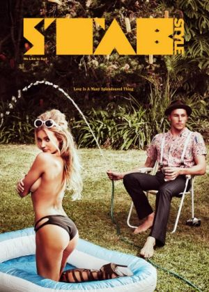 The cover of Stab magazine featuring Alana Blanchard and Jack Freestone.