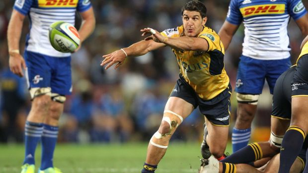 Injured: Brumbies scrumhalf Tomas Cubelli hurt his leg in the Super Rugby match against the Stormers.