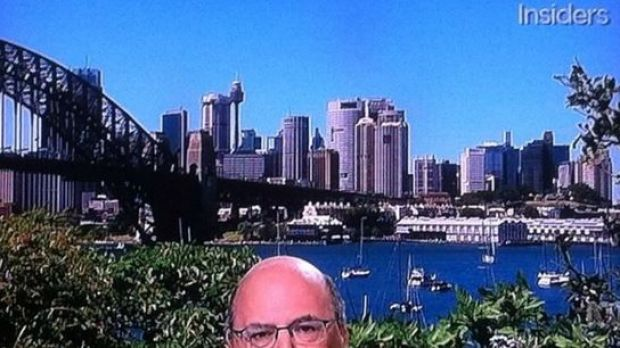 An actual screengrab of Sinodinos on ABC's Insiders that was far, far too funny not to use.
