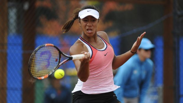 Destanee Aiava, 15, came close to winning her first ITF title.