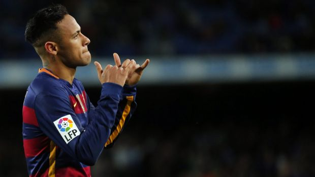 Another goal: Neymar scored again for Barcelona in their 2-2 draw with Villarreal.