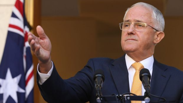 Malcolm Turnbull on Monday, saying the Senate can decide on the timing of his first election.
