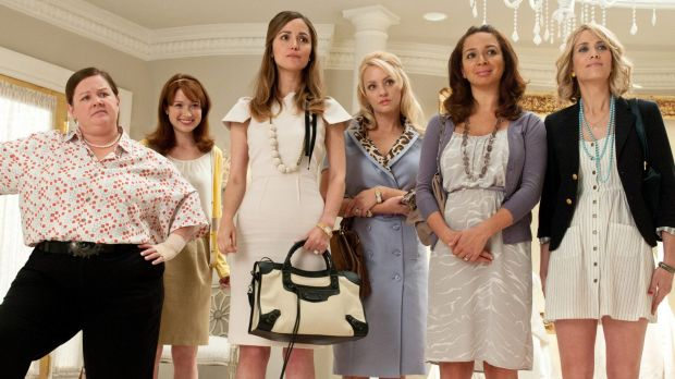 Melissa McCarthy (far left) in Bridesmaids. McCarthy is seeing mainstream success in movies.