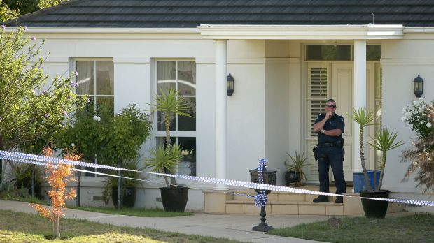 The scene in Summerhill Terrace Highton where human remains were found on March 21, 2016 in Melbourne, Australia.