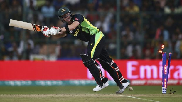 Steve Smith is bowled by Mushfiqur Rahim.