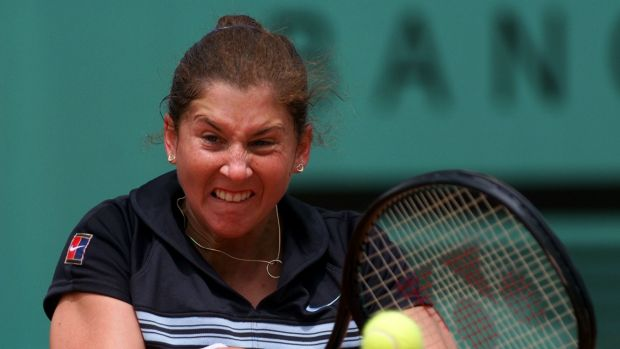 Monica Seles at the French Open in 1998.