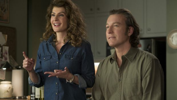 John Corbett and Nia Vardalos in <i>My Big Fat Greek Wedding 2.</i>