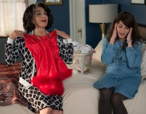 Andrea Martin and Nia Vardalos in <i>My Big Fat Greek Wedding 2.</i>
