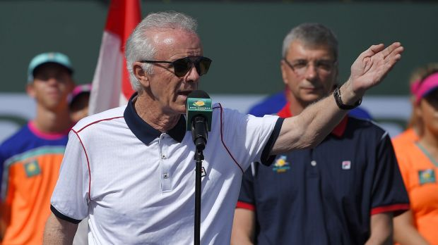 Foot in mouth: Raymond Moore raised ire with his remarks about women's tennis.